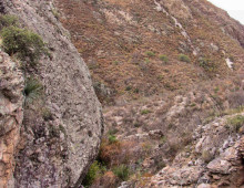Canyon below cattle tank, Sierra Azul, Rancho El Aribabi - J. Rorabaugh