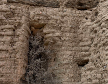 Adobe walls of Mision Cocospera, N Sonora - J. Rorabaugh