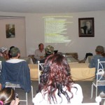 Eduardo Gomez presenting a workshop on Sonoran birds - Carlos R. Elias